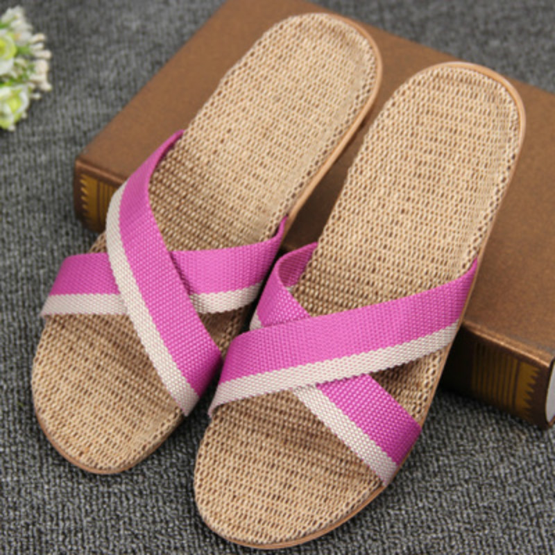 2016 Spring and summer home flax slippers female slippers sandals heavy-bottomed non-slip floor home indoor shoes