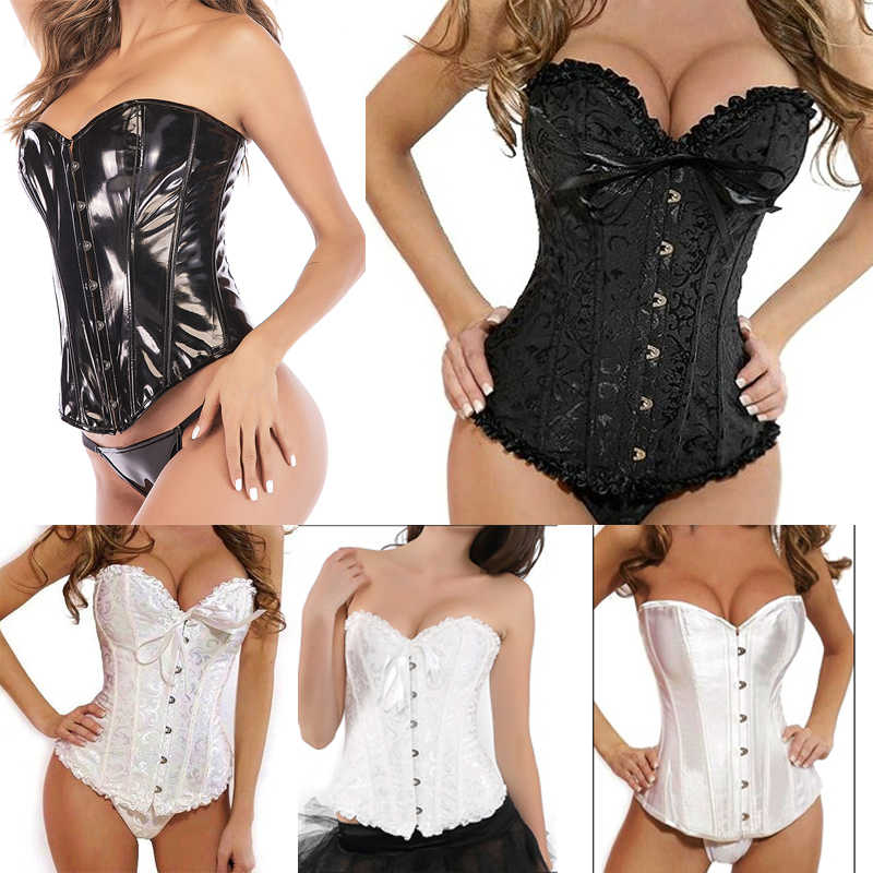 Corsets Sexy Women Steampunk Clothing Gothic Plus Size Corsets Lace Up Boned Overbust Bustier Waist Cincher Body Shaper Corselet