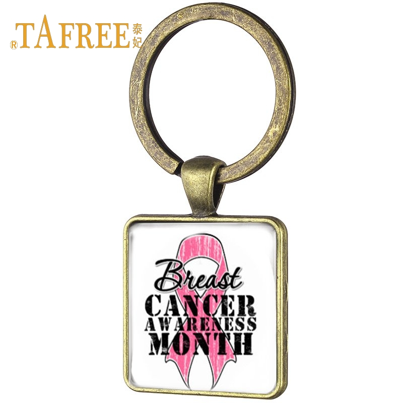 DAUGHTER BREAST CANCER KEY CHAIN PINK RIBBON BELIEVE HOPE