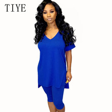 TIYE Two Pieces Sets Slim Jumpsuits Women Sexy V-neck Short Sleeve Bodycon Rompers Summer Elegant Casual Femme Playsuits Mujer fuda two pieces sets large size 3xl playsuits women bodycon rompers bodysuits short sleeve printed casual summer overalls