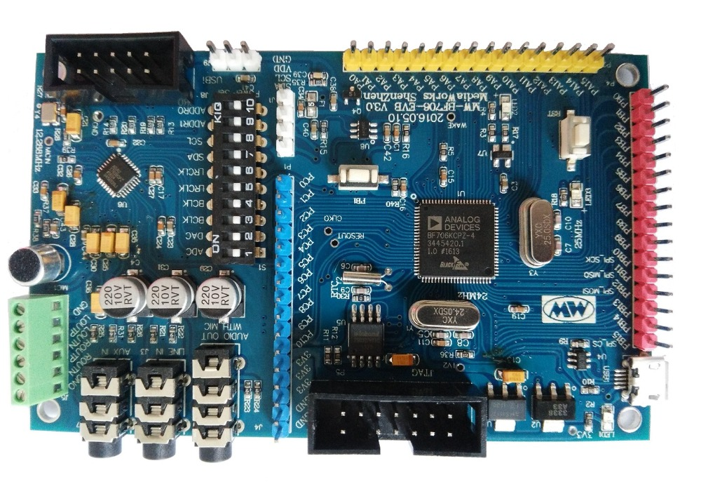ADSP-BF706 Development Board, ADAU1761 Development Board