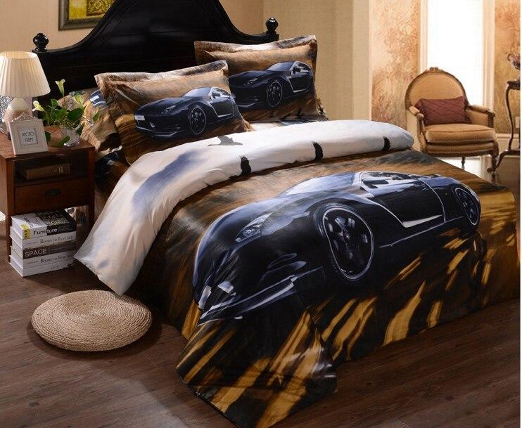 Men S Boys Cool Black Car Prints 3d Bedding Sets Duvet