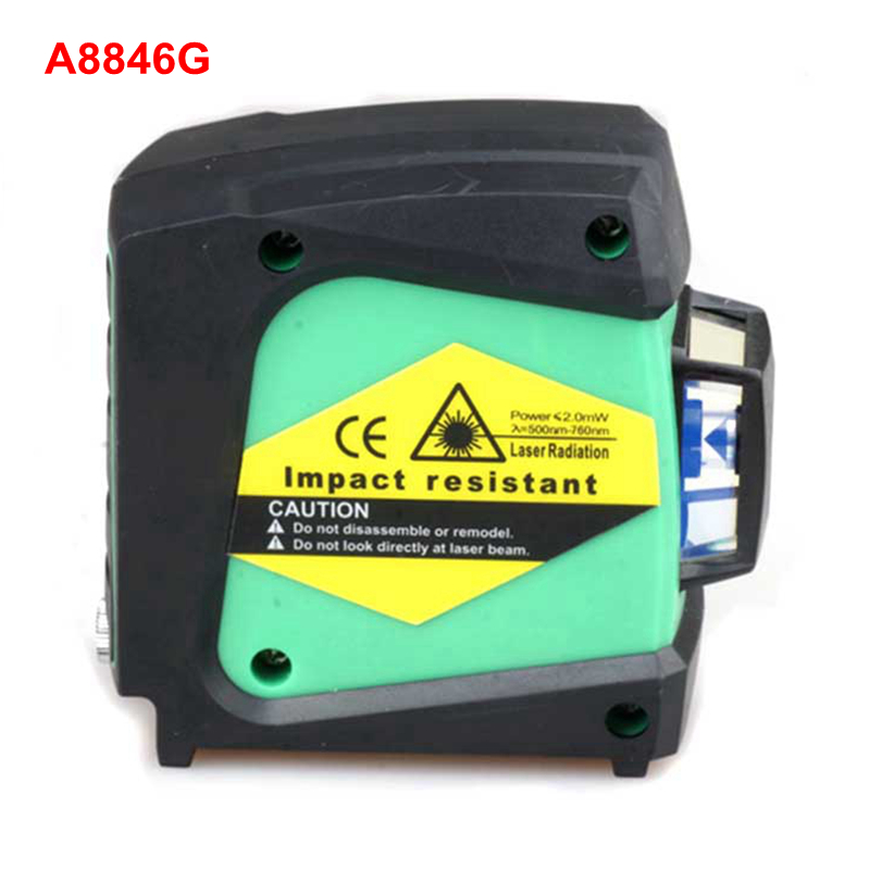 Portable  ACUANGLE  A8846G   520nm Green Line Wall Meter Laser Level 360 Rotary  Gravity Leveling Instrument with Carry Bag