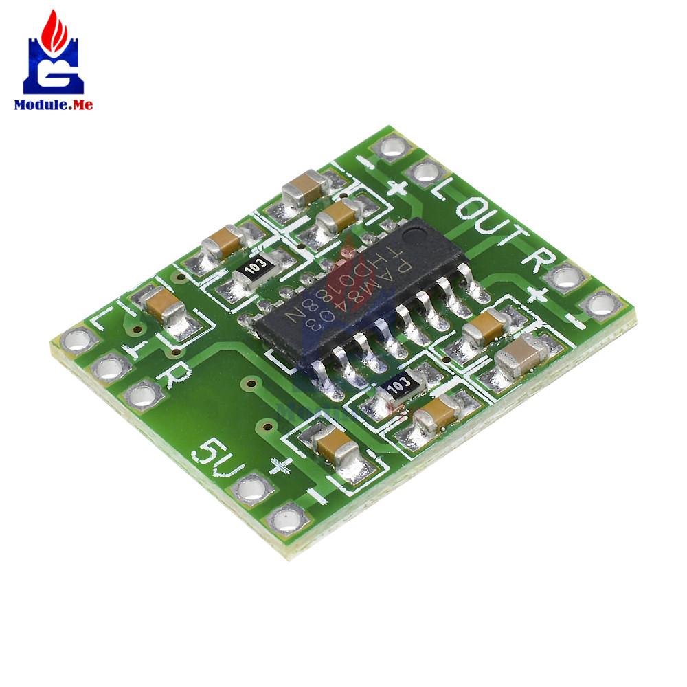 DC 2.5 -5V 2 Channels 2 * 3W Mini Digital Audio Amplifier Power PAM8403 Class D Audio Amplifier Board USB Power