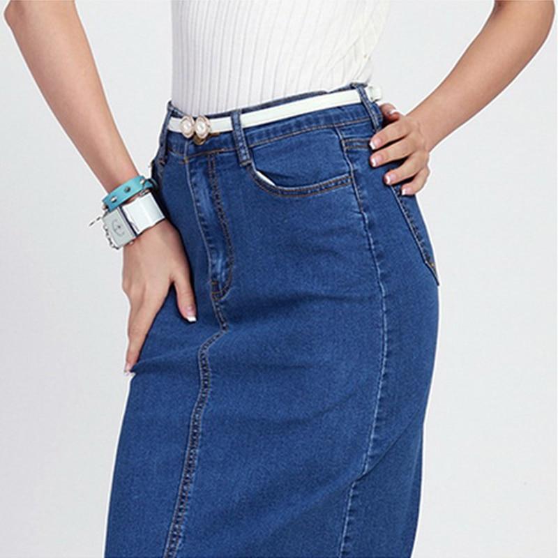 Popular Ladies Denim Skirts Long-Buy Cheap Ladies Denim Skirts ...