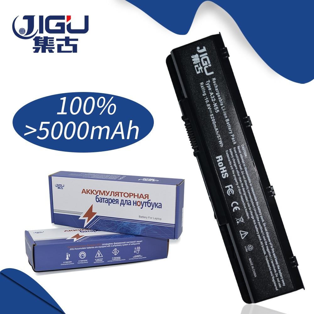 JIGU 5200MAH Laptop Battery For Asus N55 N55E N55S N75E N75S N75SV N75 N56VB A32-N45 A32-N55 N45 N45E N45S N45F N45J N45J цена