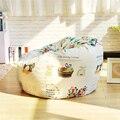 Cadeiras Sillones Fabric Single A Bean Bag Chair 120x120cm Elegant Rural Style Garden Camping Beanbag Cover Lazy Sofa Cushion