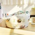 Sillones Tecido Único Uma Cadeira do Saco de Feijão Cadeiras de 120x120 cm Elegante Estilo Rural Jardim Camping Cobertura Beanbag Preguiçoso Almofada do sofá