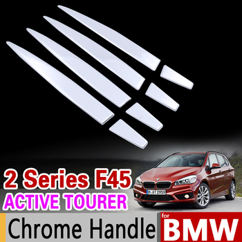 for BMW 2 Series F45 F46 Active Tourer Gran Tourer 2015 2016 2017 Chrome Stainless steel Handle Stickers Accessories Car Styling image