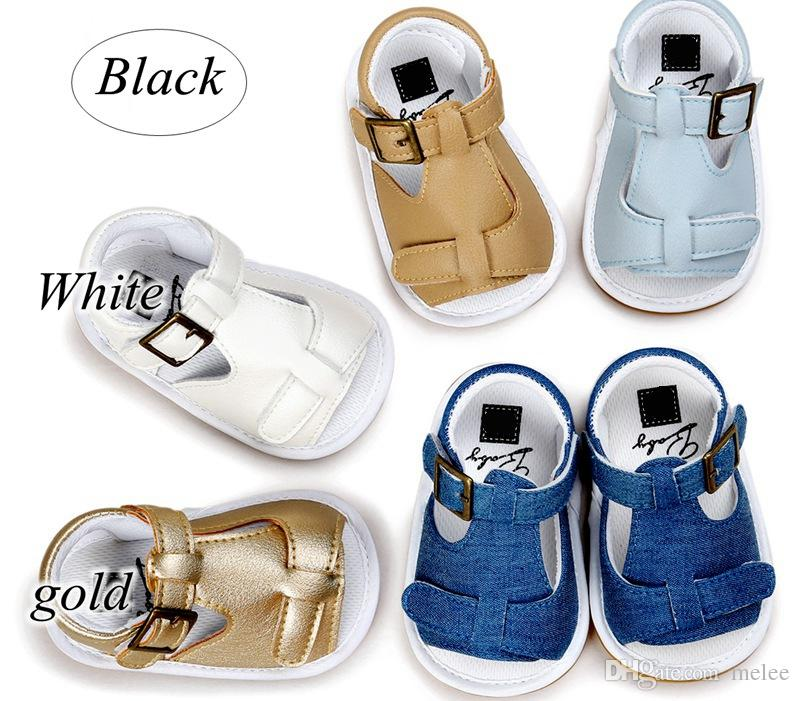 a79c0e21e037 Summer Baby first walking shoes Girls Boys Beach Shoes PU Leather casual  Shoes Buckle footwear for 0-1T
