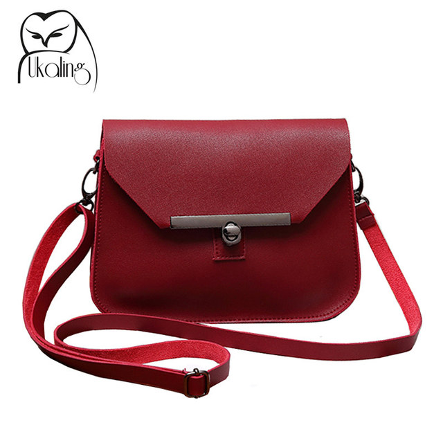UKQLING Small Women Messenger Bags Flap Handbag Soft PU Women Bag Lady PU Leather  Purse Cheap Crossbody Bags for Girls 5 Colors 4c5d4e12d8932