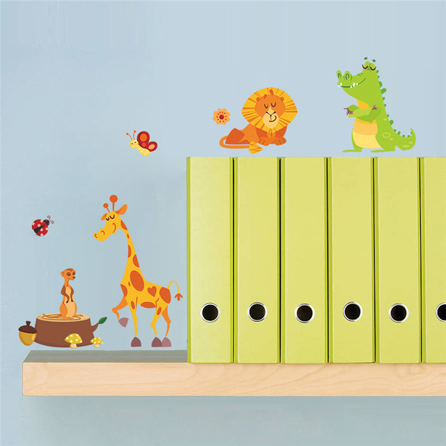 Jungle Animals Wall Stickers for Kids Rooms