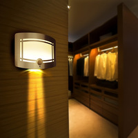 Coquimbo Wireless Infrared Motion Sensor Wall Lamp Battery Operated 8 SMD LED 0 7W White Light