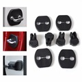 4Pcs Car Door Striker Lock Protector+4Pcs Door Check Arm Protection Cover For Nissan LivinaTiida X-Trail Micra Sunny Infiniti EX