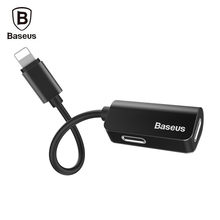Baseus L37 12cm Audio Cable Male to Dual Female 8 Pin Audio Adapter Headphone Charging Connector for iPhone 7 / 7 Plus Earphone