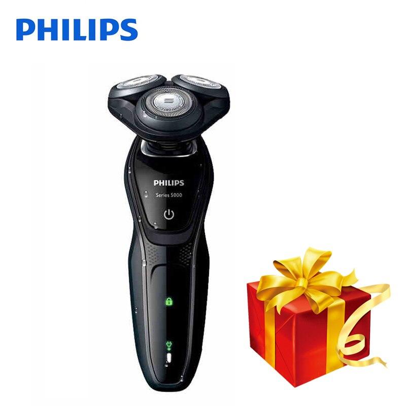 Professionnel Philips Rasoir Électrique S5079 Rotatif Rechargeable Corps De Lavage Rasoir Électrique Avec Confortable Système de Rasage Pour Hommes