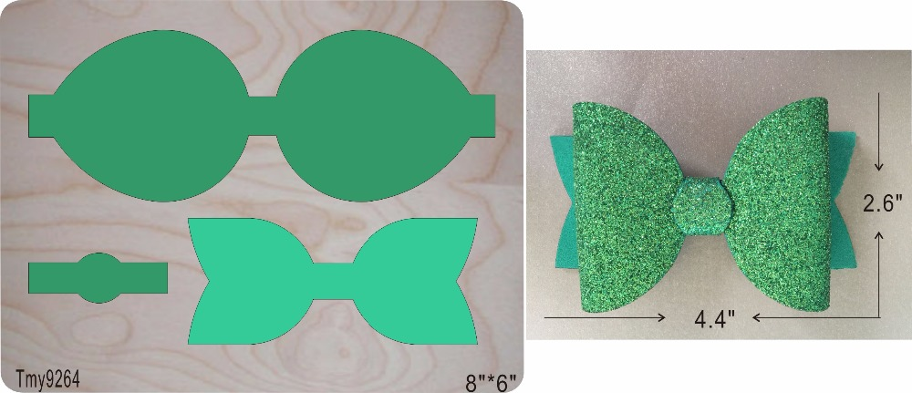 Green bow new wooden mould cutting dies for scrapbooking Thickness 15 8mm Tmy9264