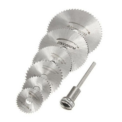 7 PCS HSS Rotary Ferramenta 22/25/32/35/44/50mm Lâminas de Serra Circular corte Discos Mandril para Dremel Cut off