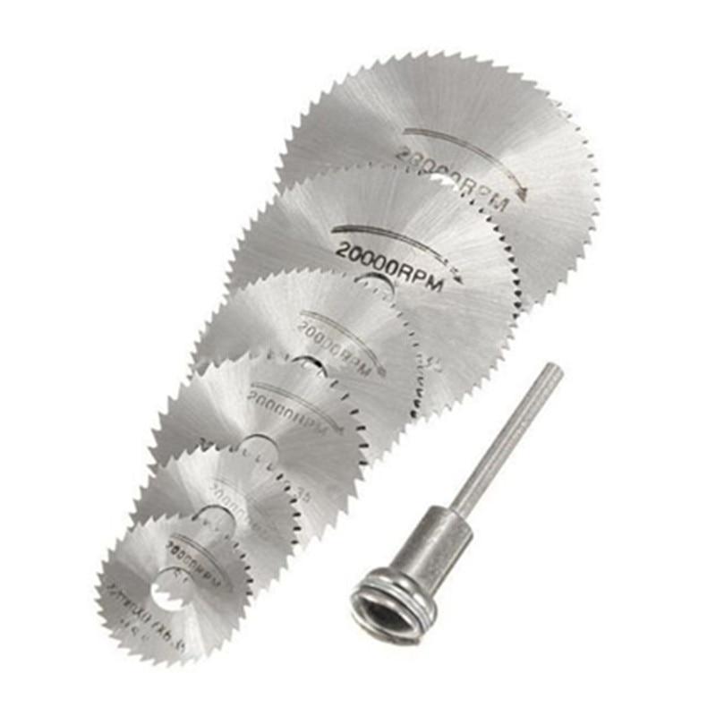 7 vnt. HSS sukamasis įrankis 22/25/32/35/44 / 50mm Diskinių pjūklų diskiniai diskiniai pjūklo diskai.