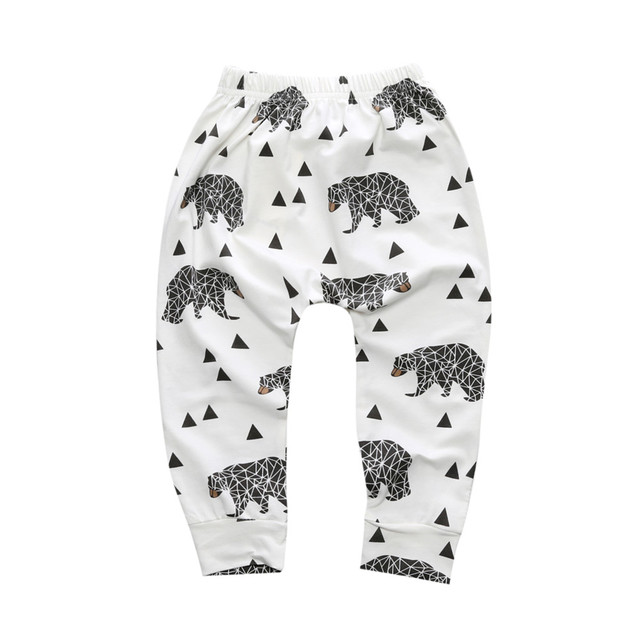New Arrival Geometric Pattern Baby Cotton Trousers Babys Boys Girls PP Pants Harem Pants For Newborn Girl Boy Clothing CP181