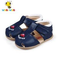 Wua Wua Merk Baby Jongens Zomer Schoenen Lederen Sandalen voor Meisjes Babyschoenen Baby Wit Zuigeling Jongen Schoenen pasgeboren