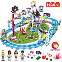 Bricks Compatible with LegoINGLY Blocks Friends Amusement Park Roller Coaster Figure Model Toys Hobbie Children Girls