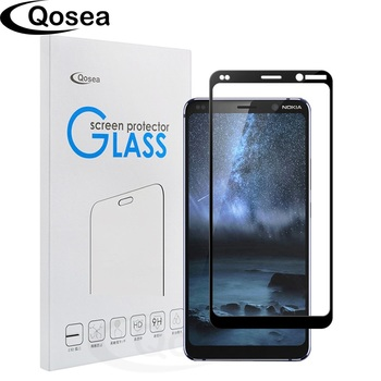 Qosea Phone Screen Protector For Nokia 9 PureView Tempered Glass 9H 4D Full Film Cover For Nokia 9 PureView Protective Glass