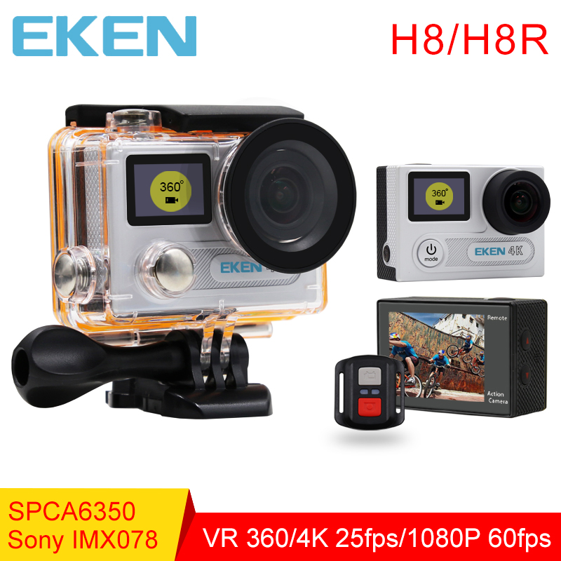 The new 100% Original EKEN H8/H8R Action Camera VR360 Ultra 4K/30fps Dual LCD Mini Cam Waterproof Sports Camera Gopro compatible