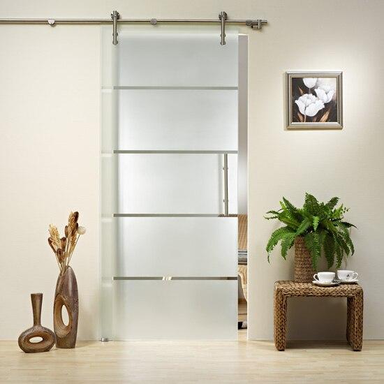 Buy kin made gd12 stainless steel glass for Full glass sliding doors