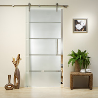 KIN MADE GD12 Stainless steel glass sliding door full set hardware(satin finish)+free shipping