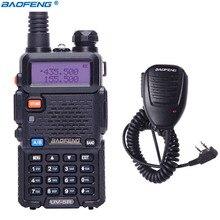 Baofeng Walkie Talkie Amador UV 5R 5 W Rádio Portátil Dual Band UHF & VHF UV 5R 136 174 MHz & 400 520 MHz BF UV5R em Dois Sentidos CB Radioamador