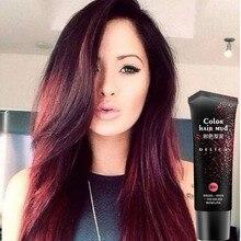 50 мл быстро сильный стиль унисекс одноразовый красный цвет волос помады одноразовый цвет волос грязевой воск для мужчин и женщин