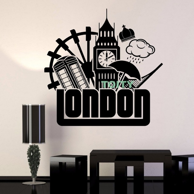 vinyl wall decal london symbol united kingdom big ben uk sticker