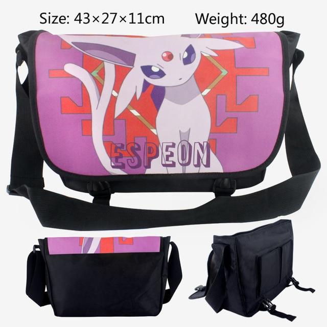 Anime Pokemon Pikachu Messenger Bag Eevee Cosplay Singgle Shoulder Bag  Children Plush backpack