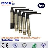 Vender DHL rápido envío gratis 3PIN XLR inalámbrico DMX 1 piezas 4 piezas receptor y transmisor
