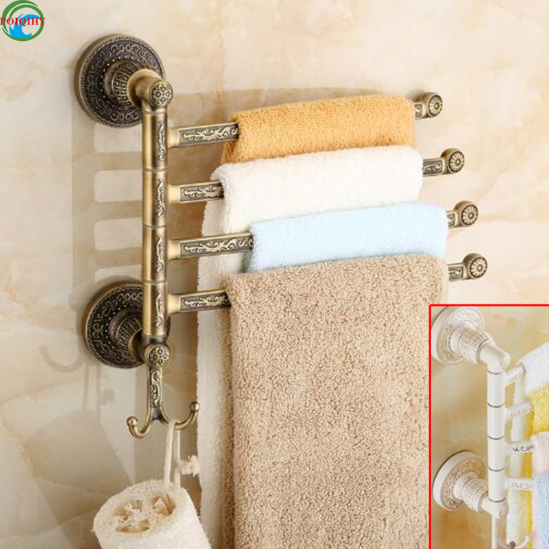 Rotation Towel Rack 4 Layer Activities Towel Bar & Towel Rack /Bathroom Accessories Folding Towel Bar goon подгузники трусики 7 12 кг 58 шт