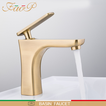 FAOP Basin Faucet water taps golden sink faucet sink mixer faucet for bathroom mixer waterfall faucets sink tap griferia 1