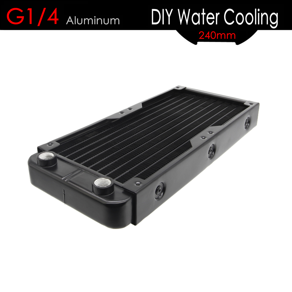 ALSEYE Water Radiator G1/4 DIY Water Cooler Radiator 240mm Aluminum heatsink for CPU cooler / VGA Water Cooling Accessories 2pcs lot ci 22960 balance armature speaker moving iron unit driver knowles earphone receiver