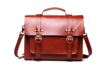 Nesitu Neutral Style Vegetable Tanned Genuine Leather Men / Women Messenger Bags Woman Handbags Briefcase Portfolio #M8605