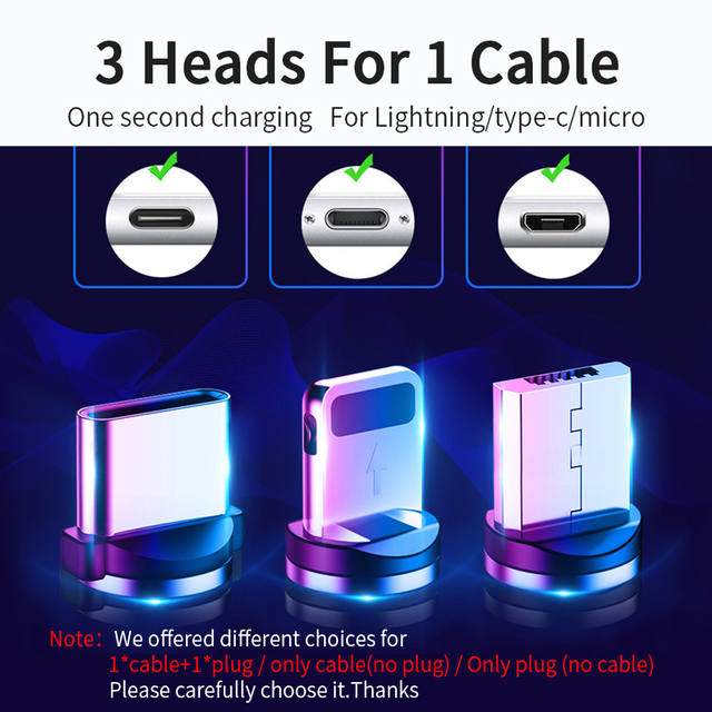 FPU 3m Magnetic Micro USB Cable For iPhone Samsung Android Mobile Phone Fast Charging USB Type C Cable Magnet Charger Wire Cord 2