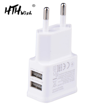 5V 2A Plug Dual Double USB Charger For iphone ipad ipod Univ