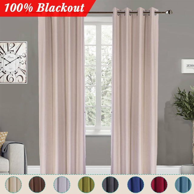 Simanfei Thermal Blackout Window Curtains For Living Room