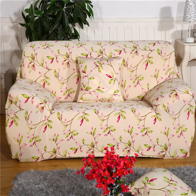 Flower Printed Elastic Slipcovers Corner Sofa Cover Set Couch All
