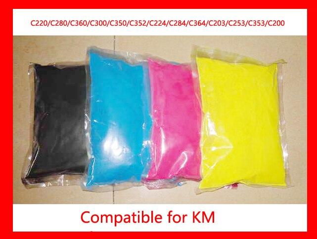 Color toner powder compatible for Konica Minolta C220/C280/C360/C300/C350/C352/C224/C284/C364/C203/C253/C353/C200 Free Shipping detomaso dt3009 c