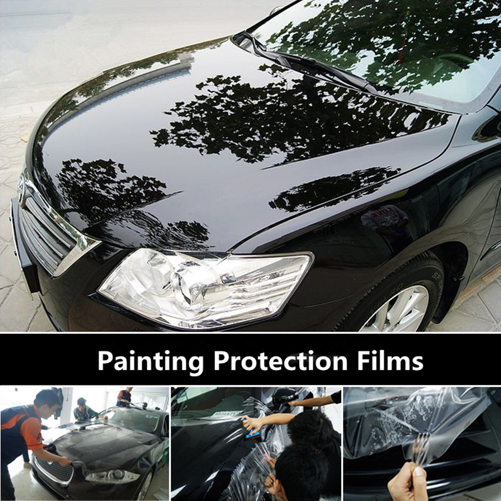 SUNICE PPF Car/Furniture/Marble Protector Films Car Painting Protective Film Self Adhesive Wrapping Film 50cm x 600cm TPH Film-in Car Stickers from Automobiles & Motorcycles