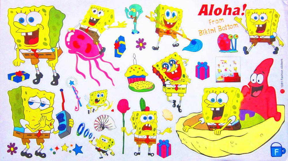 Online Get Cheap Spongebob Wall Sticker Aliexpresscom Alibaba - Spongebob room decals