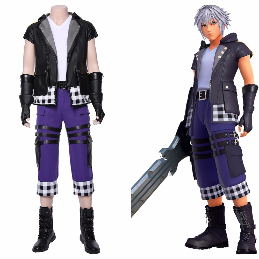 Kingdom Hearts 3 Cosplay Riku Costume Game Fancy Dress Outfits Halloween Props