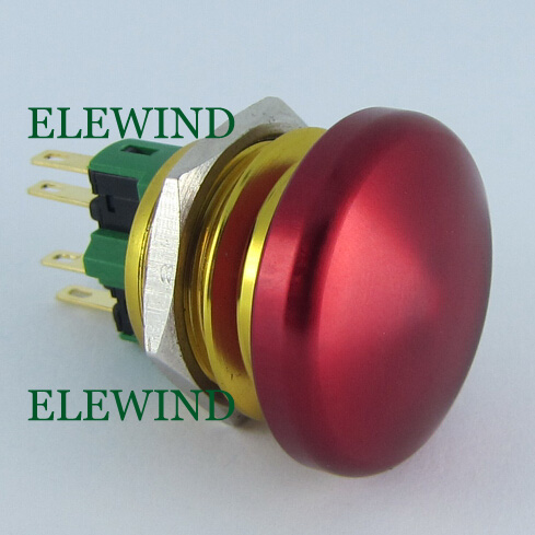 цена на ELEWIND 22mm Momentary Metal big head mushroom push button(PM221-11M)