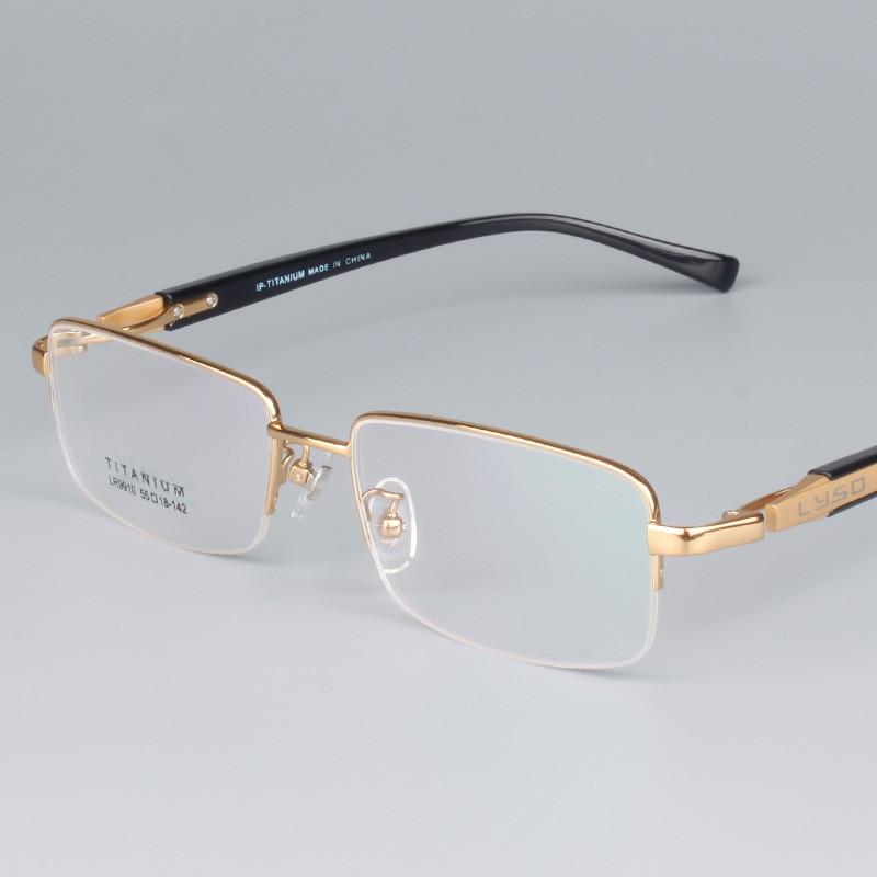 vazrobe 100 pure titanium eyeglasses frame men semi rimless glasses frames for male custom