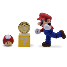 5'' 12cm Set Super Mario Bros with Joint Mushroom Toad Coins PVC Action Figures Sets Toys for Children Figures Collection super mario bros action figures set 6pcs